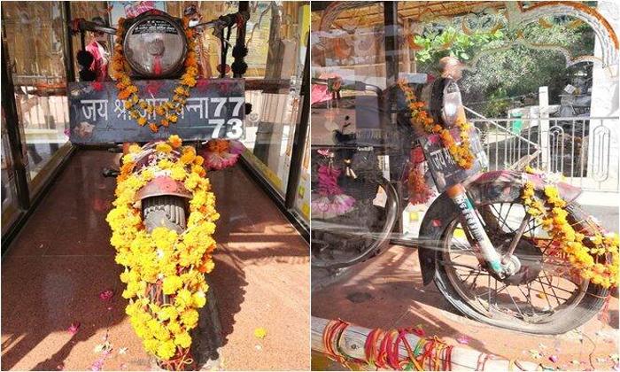 Bullet Baba Temple In Rajasthan-TeluguStop.com
