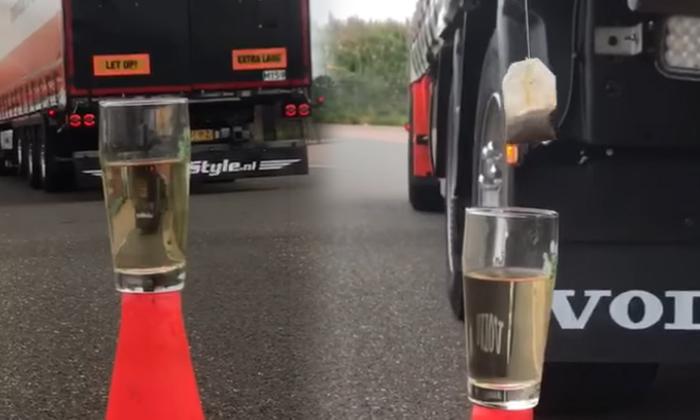 Dutch Driver Uses A Truck To Soak A Tea Bag In Hot Water-TeluguStop.com