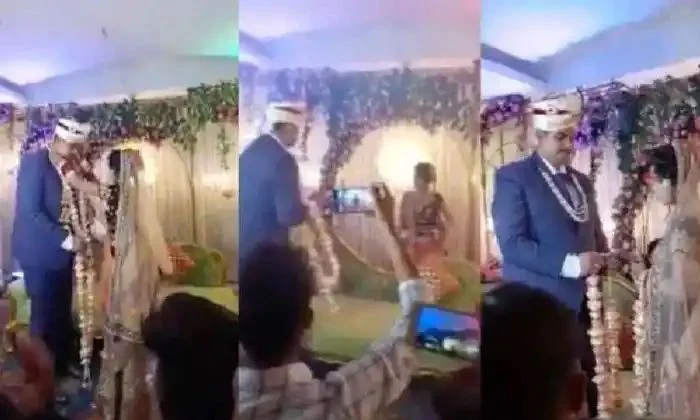 Viral Video The Bride Who Played The Groom On The Wedding Stage-TeluguStop.com