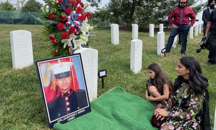 Memorial Service Of Sikh Soldier Held At Arlington National Cemetery In Us-TeluguStop.com