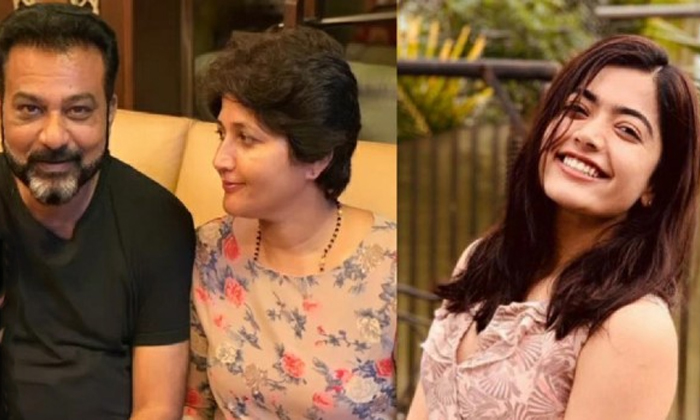 Actress Rashmika Sensational Comments About Her Parents-TeluguStop.com