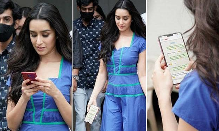 Sharddha Kapoors Whatsapp Chat Goes Viral Fans Slam Celebrity Paparazzo For Invading Her Privacy-TeluguStop.com