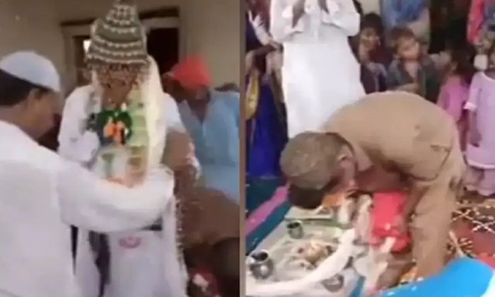 Video Of Man Gets Marriage With Goat Goes Viral-TeluguStop.com