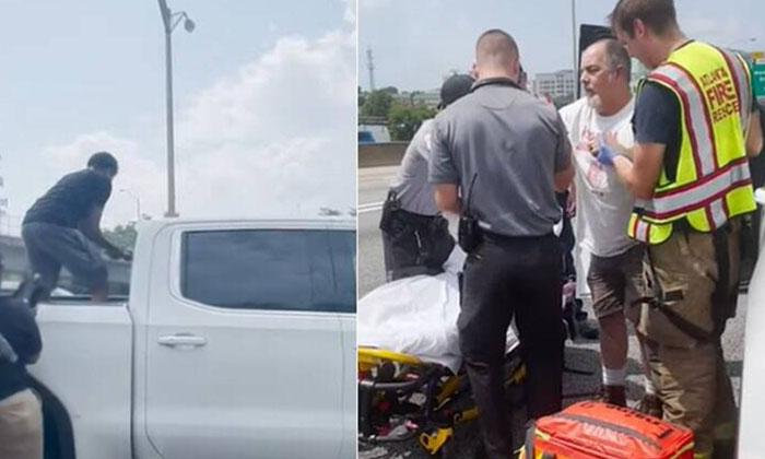 Good Samaritans Smash Truck Windows To Rescue Unconscious Driver-TeluguStop.com