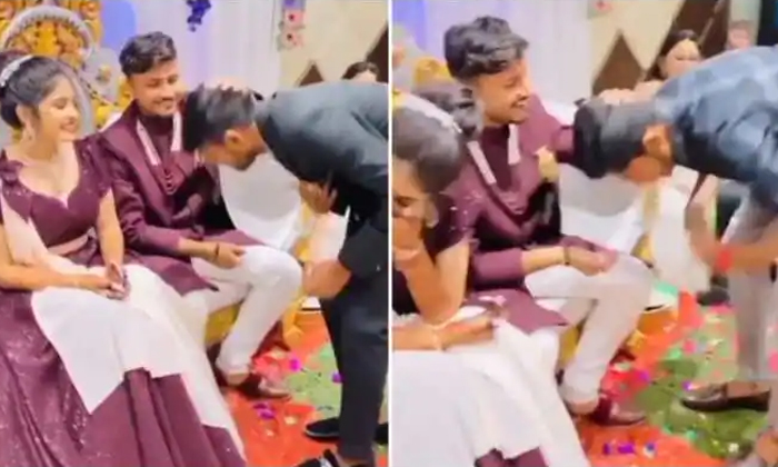 Newly Wed Couples Friends Pull Hilarious Prank On Them During Wedding Reception-TeluguStop.com