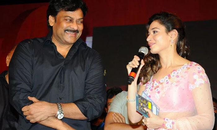 Chiranjeevi Romance With Milky Beauty Tamannah-TeluguStop.com