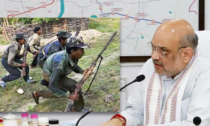 Amit Shah Meets Cms Of Maoist Affected States-TeluguStop.com