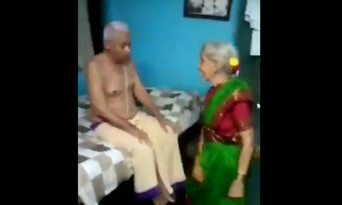 Grandmother Stepping On A Bullet Bike Song In Front Of Her Grandfather At The Age Of 80-TeluguStop.com