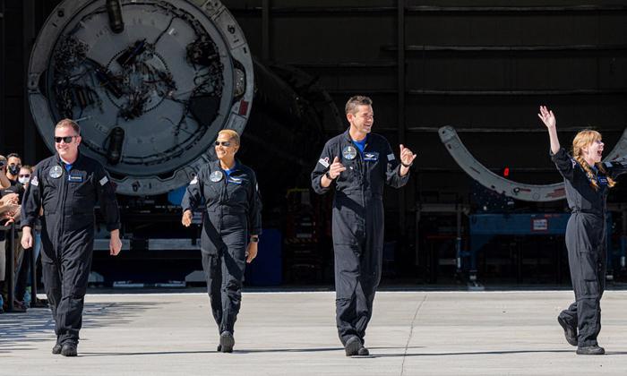 Telugu Blue Origin, Elon Musk, Jeff Bezos, Nasa, Spacex Capsule With World's First All-civilian Orbital Crew Returns Safely, Spacex Inspiration Research, Spacex Inspiration4 Astronauts, Spacex Launching, Tesla Car, Virgin Galactic-Telugu NRI