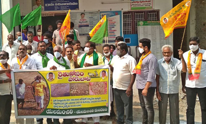 Tdp Farmers Battle Path From Today-TeluguStop.com