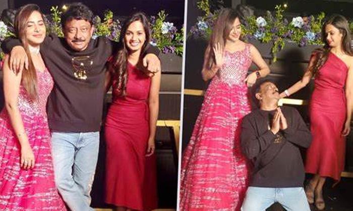 Ram Gopal Varma With Two Hot Anchors-TeluguStop.com