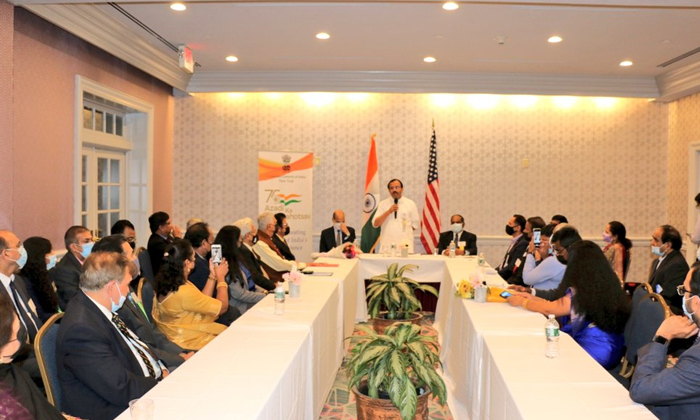 Union Minister V Muraleedharan Meets Indian Community In Us Connecticut-TeluguStop.com