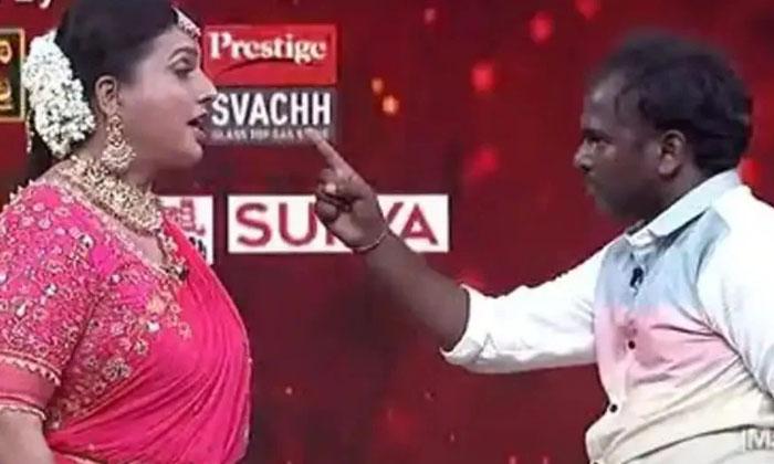 Jabardasth Immanuel Warning To Roja In Etv Dasara Special Event Program-TeluguStop.com